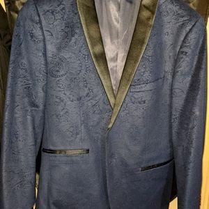 Dark Blue Patterned YD Suit Jacket